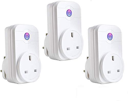 [3 Pack] Smart Steckdose COOSA wifi alexa Plug Kompatibel mit Alexa [Echo, Echo Dot] und Google Home,App Steuerung von IOS und Android mit Timing Funktion