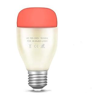 Smart LED Glühbirne WiFi Smart RGB Birne Licht Arbeit mit AMAZON Alexa (Echo / Echo Dot) Unterstützung Fernbedienung / ECHO Voice Control / Musik Rhythmus / Anpassen Farbe Helligkeit für Android iOS Smartphone AC 100-240V