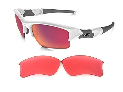 Galaxylense Ersatzgläser für Oakley Flak XLJ Sonnenbrillen für Männer oder Frauen Regular 62x1.5x38 mm Prizm rubin