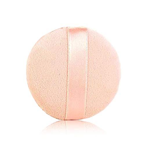 WEIWEITOE 5 teile/los Foundation Schwamm Puderquaste Pads Gesichts Runde Größe Frauen Schönheit Werkzeuge Tragbare Make-Up Kosmetische Werkzeug, rosa, -