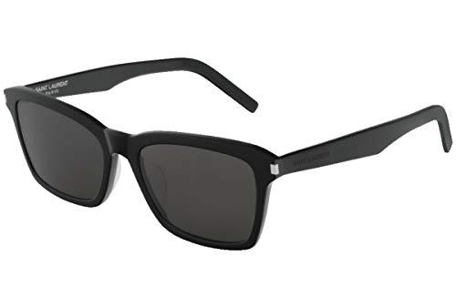 Yves Saint Laurent Sonnenbrillen (SL-283-SLIM 001) schwarz glänzend - grau