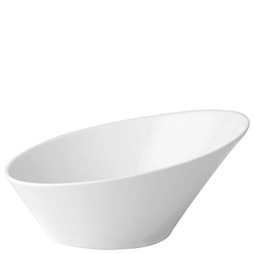 Utopia Anton Noir en porcelaine fine Z03093-000000-b01006 Elipse biseau Bol, 21 cm (lot de 6)
