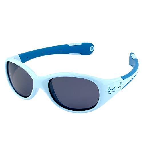 ActiveSol BABY-Sonnenbrille | JUNGEN | 100% UV 400 Schutz | polarisiert | unzerstörbar aus flexiblem Gummi | 0-2 Jahre | 18 Gramm (L, Fish)