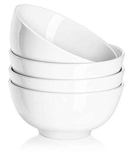 Sangeshitou BBHAPPY 6 Zoll Porzellansuppe/Müslischalen Set - 4 Packungen, Weiß