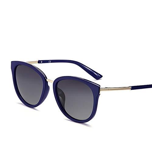YYXXZZ Sonnenbrillen Polarisierte Sonnenbrille DamenMetal FrameGlassesLady Brand, lila