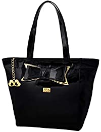 I Define You Olivia Black Color Top Zip Imported Genuine Patent leatherette  Bag for Girls and b61dce006e32d