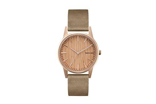 TAKE A SHOT | Armbanduhr | Amy | Zifferblatt aus Holz | Kirschholz | Holzuhr | Rosegold | 36mm