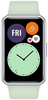 ساعة هواوي فيت الذكية مع هيكل معدني رفيع وشاشة فيفد اموليد 1.64 انش، برسوم متحركة للتمرين السريع، بطارية تدوم