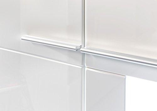 trendteam VIS96301 Wohnwand Kombination Weiß Hochglanz, Stellmaß BxHxT 370 x 193 x 45 cm - 3