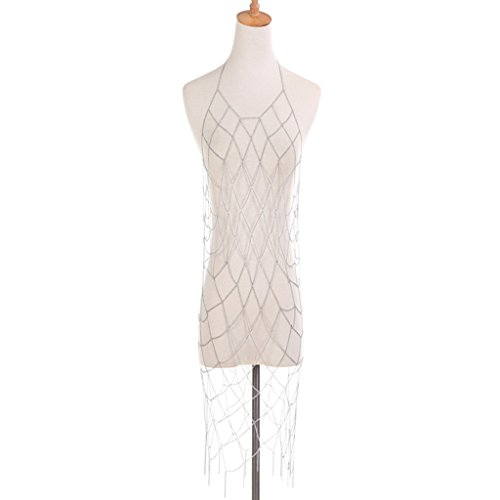 Damen-Körper-Kette, Open Cup Perspektive Kette Bundle Exquisites, Sexy, Bikini Fringe Geometrische ()
