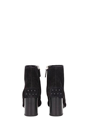 XXW0ZM0Q850BYEB999 Tod's Chaussure mi montantes Femme Chamois Noir Noir