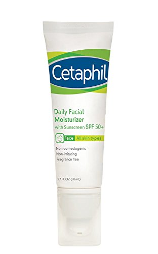 Cetaphil Daily Facial Moisturizer with Sunscreen, SPF 50+, 1.7 Fluid Ounce (Pack of 2) by Cetaphil