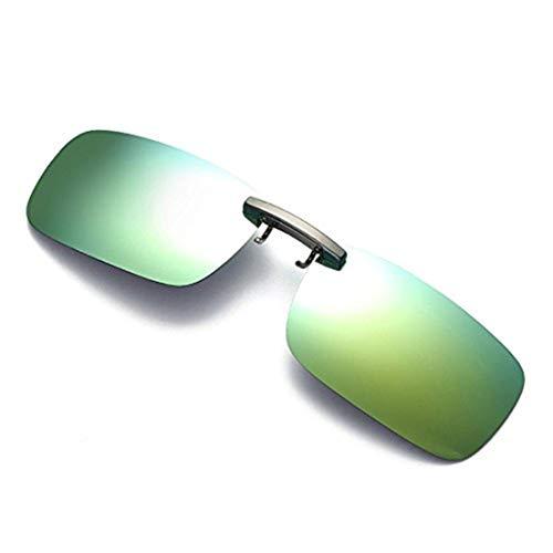 le Aufsatz 2-Stück Clip on Polarisiert Sonnenbrille für Frauen und Männer Unisex Brillenträger Sonnenbrille Flip up Sonnenbrille Clip Gegen Licht Abnehmbare Nachtsichtlinse ()