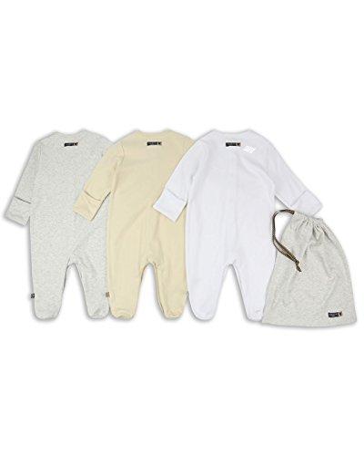 3-er Pack mit Beutel The Essential One ESS75 Baby M/ädchen Schlafanzuge//Schlafanzug//Einteiler// Strampler