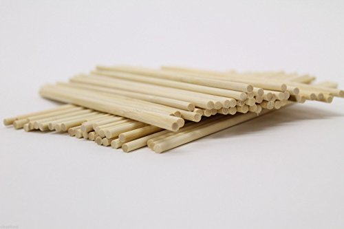 Classikool 280mm x 6.5mm Round Wooden Sticks for Crafting and Food Use (x50) [Free UK Post]