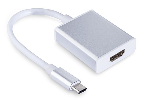 MyGadget USB Typ C Adapter - HDMI zu Type C Konverter - Ausgang Full HD bis 1080p - Kabel für Apple MacBook 12