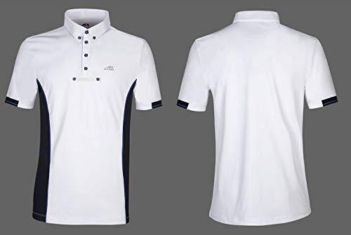 Equiline Herren Turniershirt Gym, Poloshirt, Herrenshirt, weiß Größe L