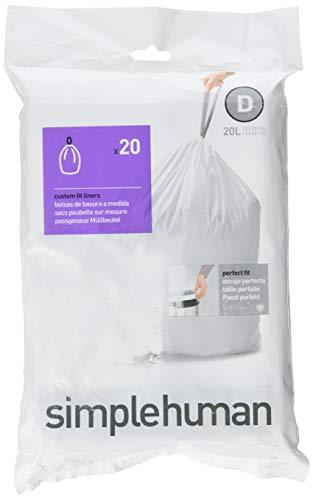 simplehuman Bin Liners, Pack of 20