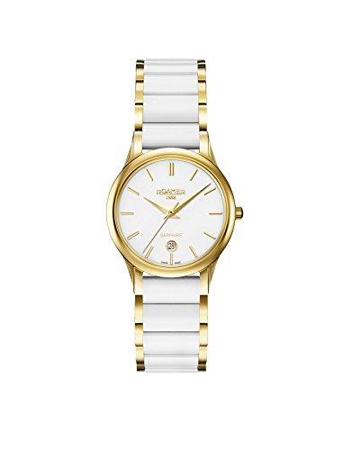 Roamer Damen Datum klassisch Quarz Uhr mit Keramik Armband 657844 48 25 60