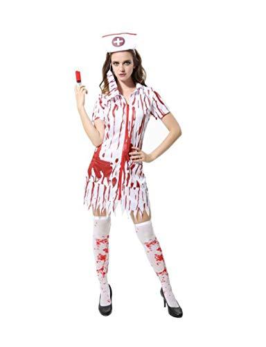 Kostüm Maskerade Männlich - TUTOU Horror Halloween, Cosplay Erwachsene Halloween Dekoration Requisiten Blut Weibliche Krankenschwester Kleidung Männlichen Chirurgen Kostüm Maskerade Cosplay Kostüm,bloodcoatfemalenurseM