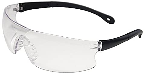 ERB Safety 15529 Invasion Clear Lens, One Size, Black Frame by ERB