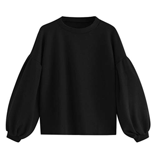 Womens Autumn Solid Casual Long Ärmel Printed Pullover T Shirts Obens Blouse -