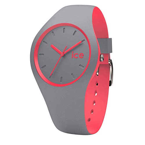 Ice-Watch - Ice Duo Dusty coral - Graue Damenuhr mit Silikonarmband - 001488 (Small)