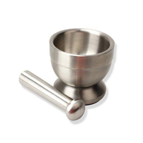 dealglad® Edelstahl Mörser Stößel Set für Zerkleinern Gewürze, Kräuter, Pillen Und etc. Apotheke Küche Werkzeuge