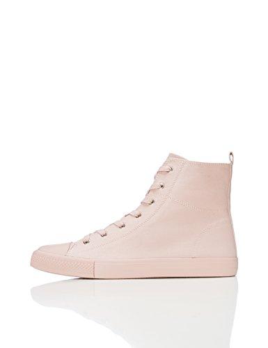 Find. Lace Up Baseball Zapatillas altas Mujer, Rosa Pink, 40 EU