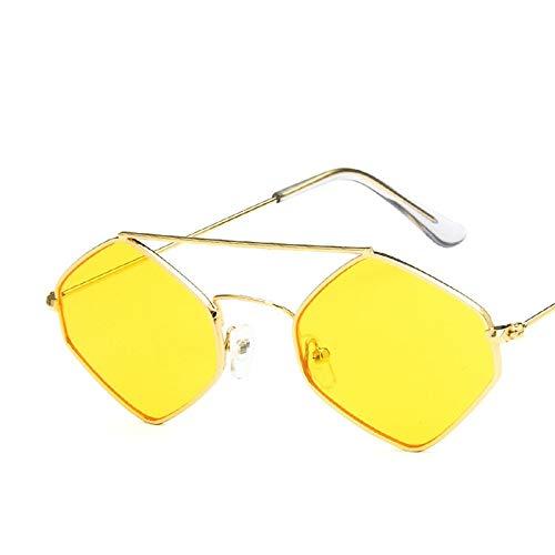 WSXCDEFGH Frauen-Sonnenbrille-Mann-Marken-Sonnenbrille-rotes klares Metallsonnenbrille-Paar Eyewear