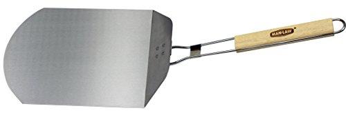 Man Law BBQ Produkte man-pp1Serie faltbar Pizza Peel, eine Größe, Aluminium/Edelstahl und Holz Aluminium Pizza Peel