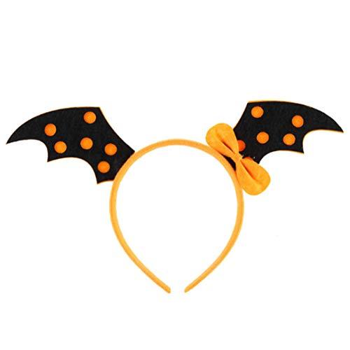 Randymank Halloween Stirnbänder Deko Haarbänder Halloween Party Kostüme Dekorzubehör (Fledermausflügel orange)