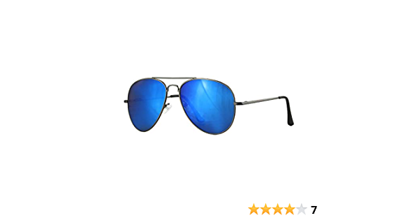 Caripe Sonnenbrille Pilotenbrille verspiegelt Flieger Retro Damen Herren Metall