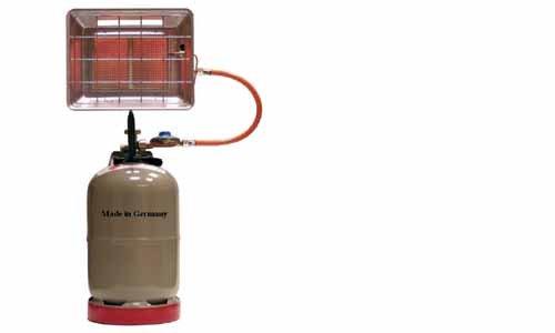 Preisvergleich Produktbild Infrarot - Gewerbe - Gasheizstrahler Leistung 2- 4,3 kW - stufenlos regelbar - inkl. Schlauch und Schutzgitter - GAsdruck 50 mbar - Lieferung inkl. SCHLAUCH aber ohne Gasregler - INNOVATIONEN MADE in GERMANY - HOLLY PRODUKTE STABIELO ® - holly-sunshade ®