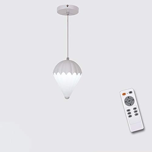 Moderne minimalistische Mode einstellbar Kronleuchter LED Acryl Deckenleuchte Farbe Fallschirm Deckenleuchte Restaurant Studie Schlafzimmer Dekoration Kronleuchter (Farbe : Weiß-Stepless dimming)