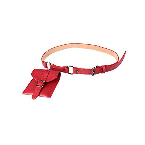 S & E Las mujeres cinturón bolsa de cintura teléfono bolsas bolsa cinturón de la mujer, Red M