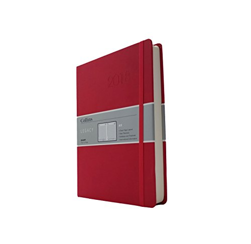 Collins Legacy A5 Day to a Page 2018 Diary - Red