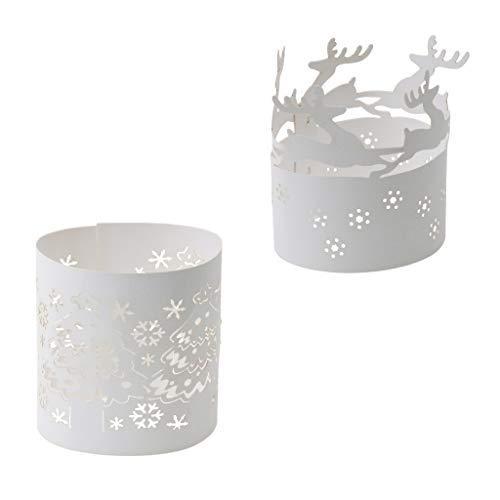 B Blesiya 20x Soporte de Luz de Navidad Creando un Ambiente Cálido y Luminoso para Fiestas.