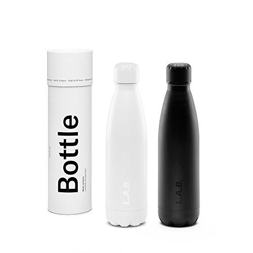 B / 500ml Wasserflasche doppelwandig, vakuumisoliert Edelstahl / Thermosflasche / Trinkflasche ()