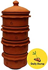 4 Tier Khambha Large Indoor Compost Bin - for Converting All Kinds of Kitchen Food Waste Into Fertilizer for Mumbai ONLY