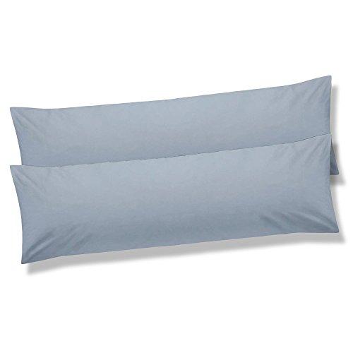 Seitenschläferkissen-Bezug 40x120 Doppelpack, Jersey-Baumwolle Kissenbezug für Stillkissen BeNature CelinaTex 5000948 silber-grau