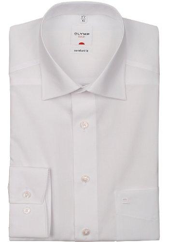 OLYMP Herrenhemd, extra lang Weiß