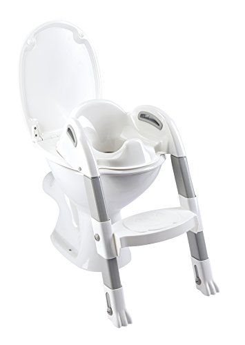 Thermobaby THE - 003 - S Z Kiddyloo Toiletten-Trainer, Weiß/Grau (Trainer Grau)