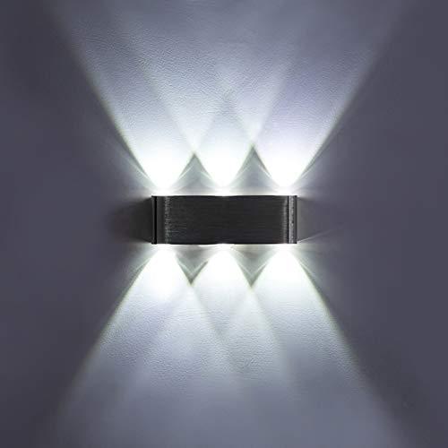 Led Wandleuchten Rauf und runter,6w Aluminium 6 licht Wandleuchter wandbeleuchtung für schlafzimmer-badezimmer-eitelkeit-lampe-Weiß Licht - 6-lampe-eitelkeit Licht