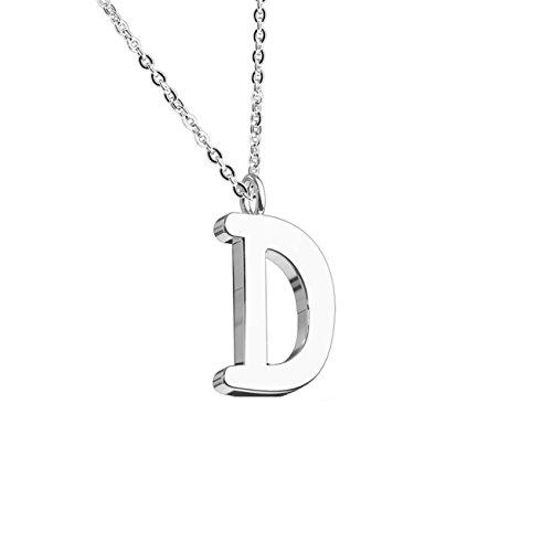 beyoutifulthings Halskette Anhänger BUCHSTABE D INITIALEN Kette Damen-Halskette Schmuck Collier Edelstahl Silber