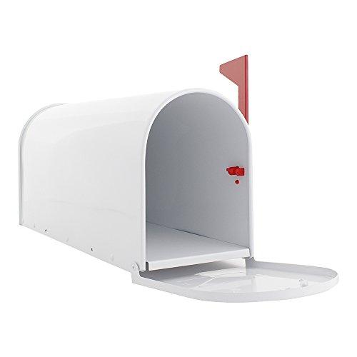 Profirst Mail PM 630 Briefkasten Weiß, Amerikanischer Stil aus verzinktem Stahlblech ,pulverbeschichtet ,inklusive Montagematerial - 2