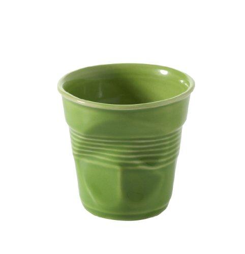 REVOL RV640645 Tasse espresso froissé porcelaine, vert lime, 6.5 x 6.5 x 6 cm