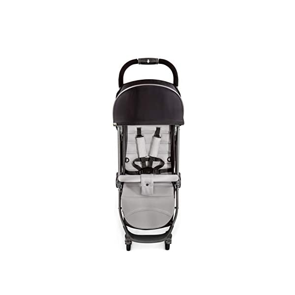 Hauck Swift Plus, Compact Pushchair with Lying Position, Extra Small Folding, One Hand Fold, Lightweight, Carrying Strap, from Birth Up To 15 kg, Silver/Charcoal Hauck EASY FOLDING - This pushchair is as easy to fold away as possible - the comfort stroller can be folded with one hand only within seconds, leaving one hand always free for your little ray of sunshine LIGHTWEIGHT - This pushchair can not only be folded away very compactly, but also easily transported by its carrying strap thanks to its light weight and aluminium frame COMFORTABLE - Backrest and footrest are multi-adjustable, the hood extendable. In addition, the pushchair comes with suspension, swiveling front wheels, soft padding, and large shopping basket 2