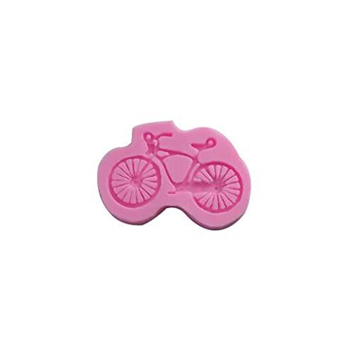 SMILEQ Bicicleta de Silicona Molde de Pastel Molde de Chocolate Molde Herramienta de decoración de Bricolaje (Rosada)