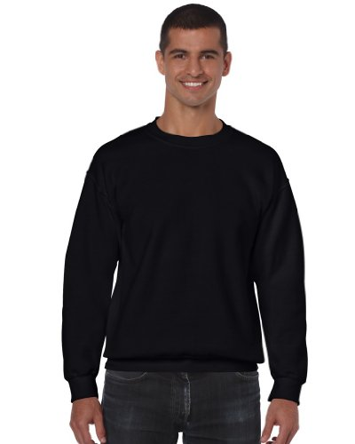 Gildan Blend TM Crew Neck Sweatshirt Erwachsene Schwarz L L,Schwarz